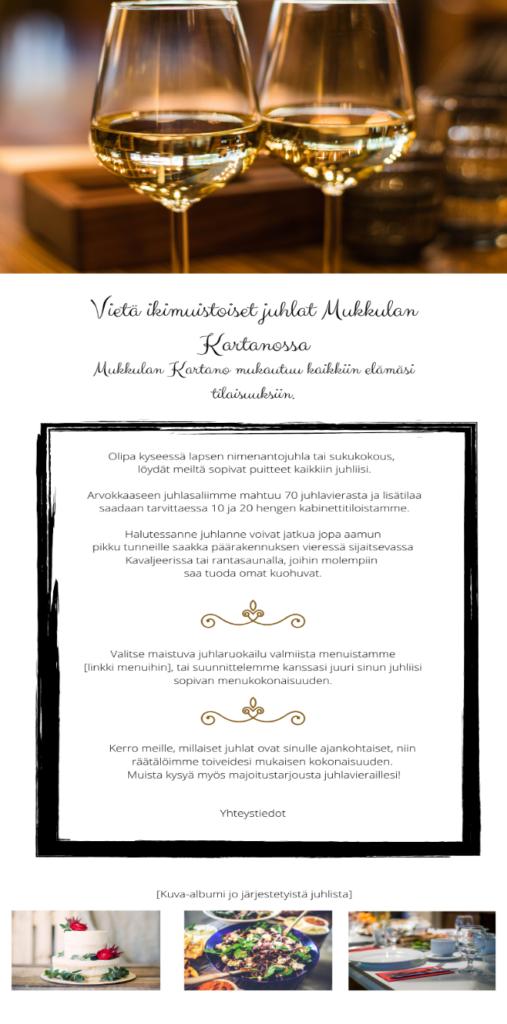 Nettisivujen kehitysehdotus (Kuva: Virtanen 2020)