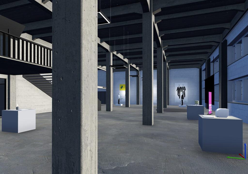 Kuva virtuaalisesta näyttelytilasta