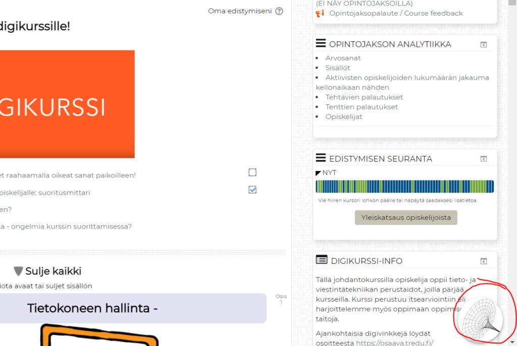 Kuvassa chat-ikoni, josta chatsovellus käynnistyy