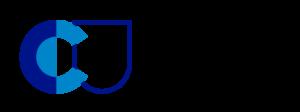 Climate Universityn logo, jossa valkoisella pohjalla sinisellä CU ja teksti climate university.